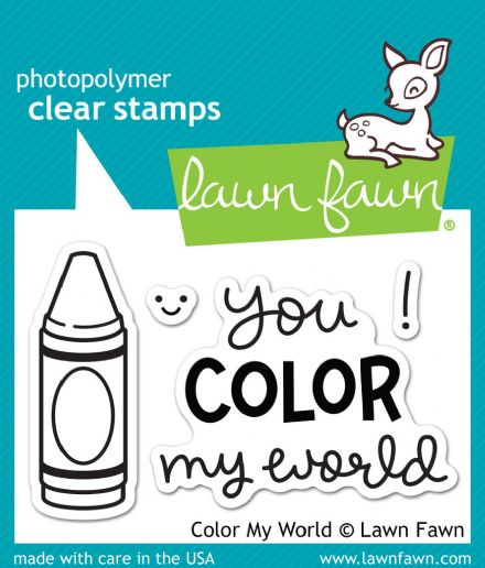 LF0793 S ~ COLOR MY WORLD ~ CLEAR STAMPS BY LAWN FAWN